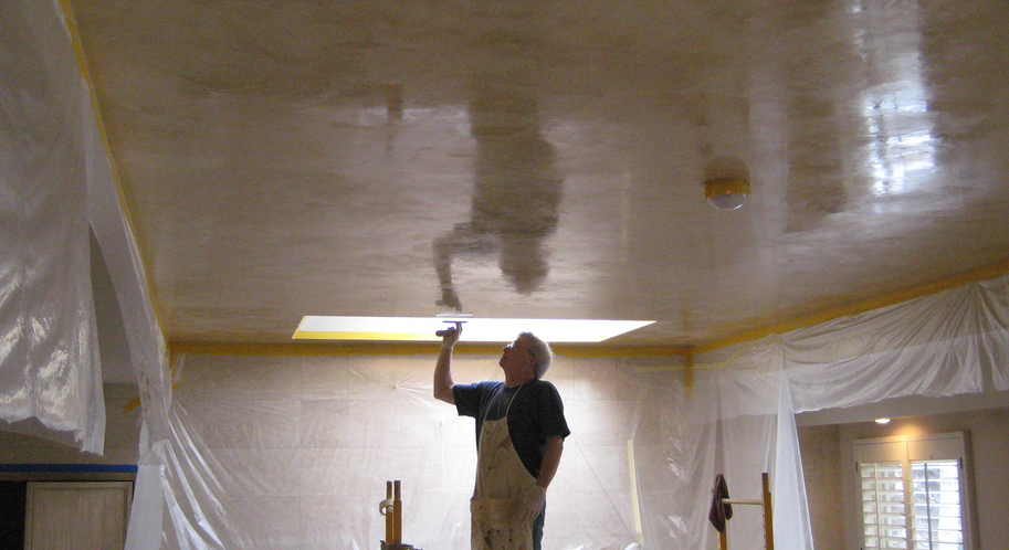 polished plaster concrete