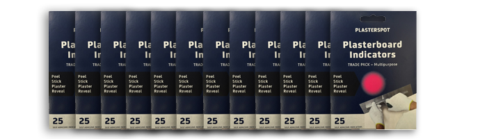 row of plasterspot packets