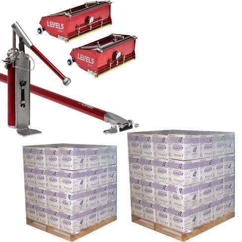 2 x Pallets 4T Lightweight Jointing Compound 14.7L with Flat Box Combo Set Extension Handles