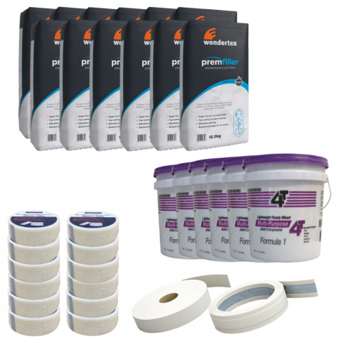 Taping & Jointing Large Material Bundle With Pails
