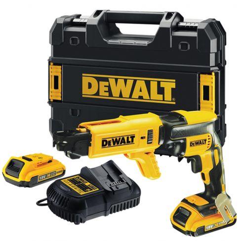 Dewalt Brushless Collated Drywall Screwdriver 18 Volt 2 x 2.0Ah Li-Ion