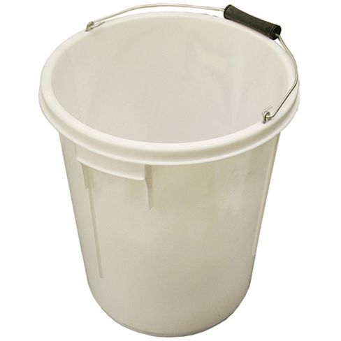 Faithful White Bucket 25L