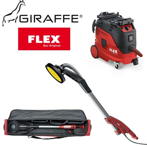 Flex GE5 Giraffe® Wall & Ceiling Sander & M Class Safety Vacuum Cleaner
