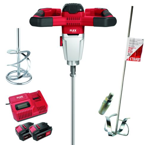FLEX Cordless Power Mixer With FREE Level 5 Paddle & Adaptor