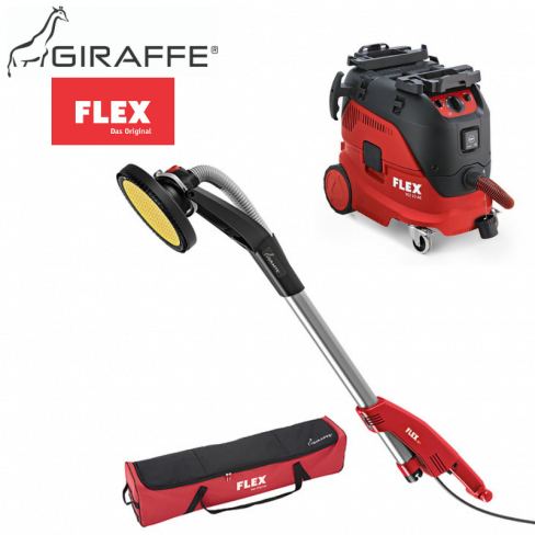 Flex GE7 Giraffe® Wall & Ceiling Sander & M Class Safety Vacuum Cleaner