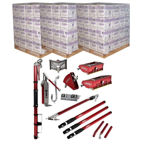3 x Pallets 4T Lightweight Jointing Compound 14.7L with Level 5 Full Set of Taping Tools