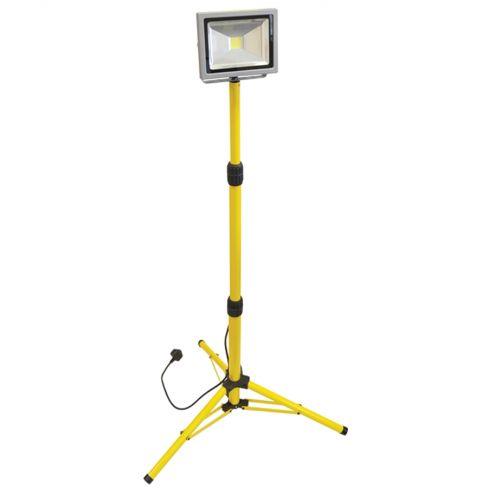 Faithfull LED Sitelight Tripod 1400 Lumen 20 Watt 110 Volt